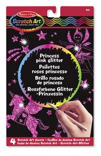 PRINCESS PINK GLITTER SCRATCH ART BOARDS R: 15810