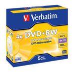DVD+RW VERBATIM 4, 7GB 4X R: 43178