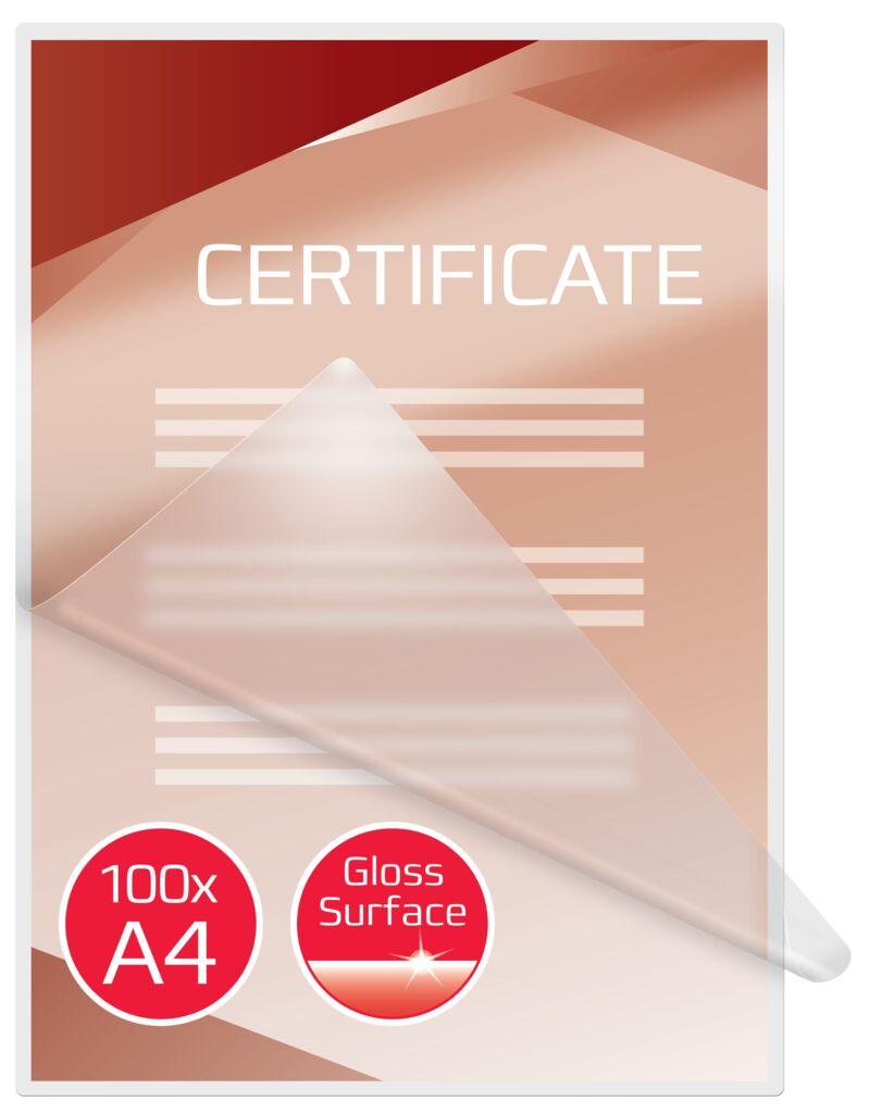 C / 100 FUNDAS PLASTIF. A4 216X303 125MIC R: 3200723