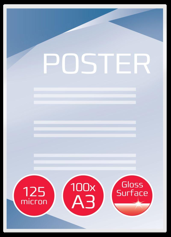 C / 100 FUNDAS PLASTIF. A3 303X426 125m R: 3200725