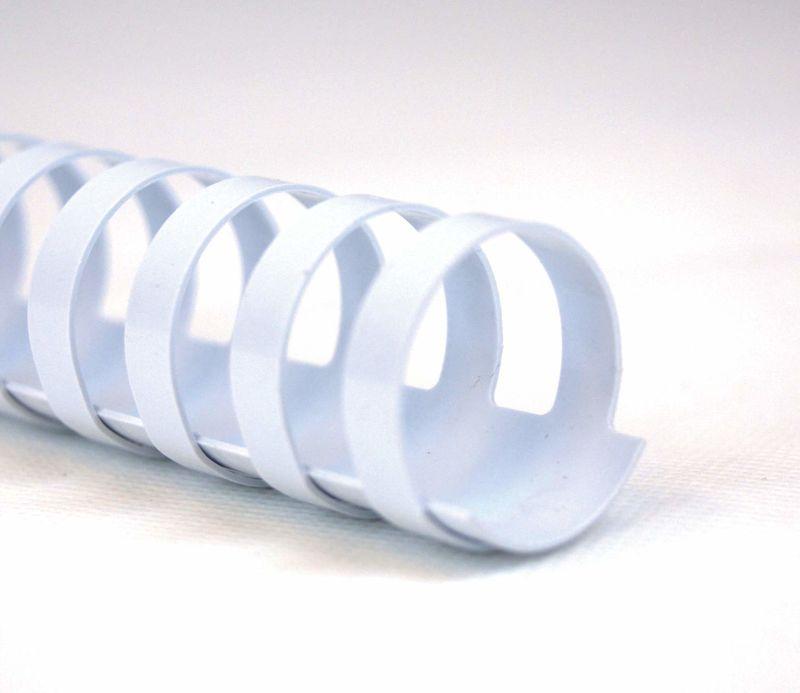 C / 100 CANUTILLOS PLASTICO A4 GBC 10mm BLANCO