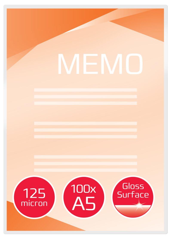 C / 100 FUNDAS PLASTIF. A5 154X216 125MIC. R: 3200749