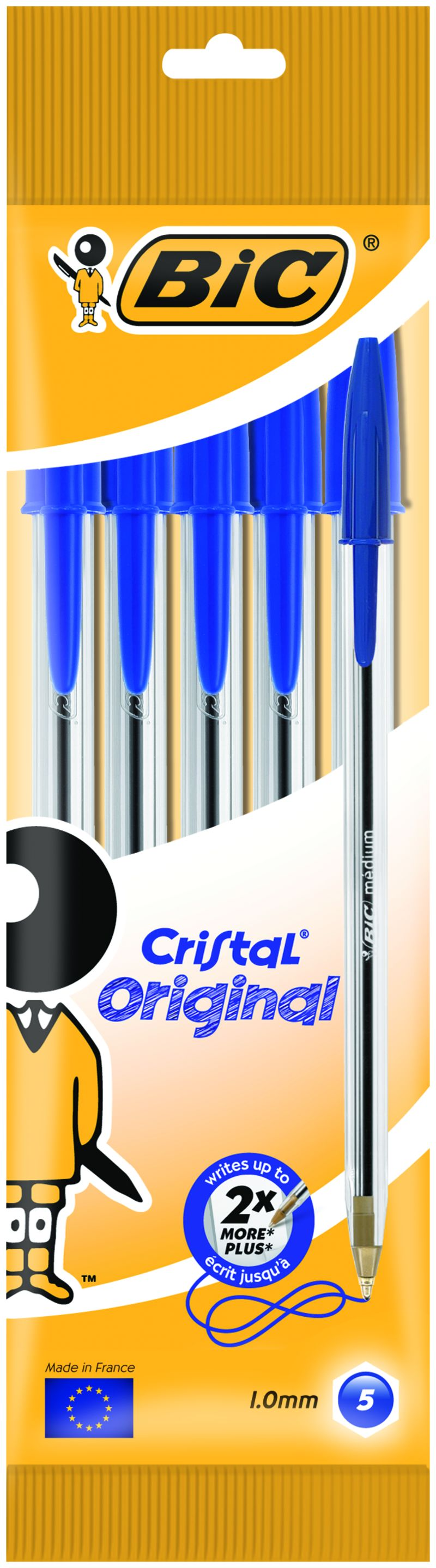 BLISTER CRISTAL MED. POUCH 5 BLUE INT - 802052
