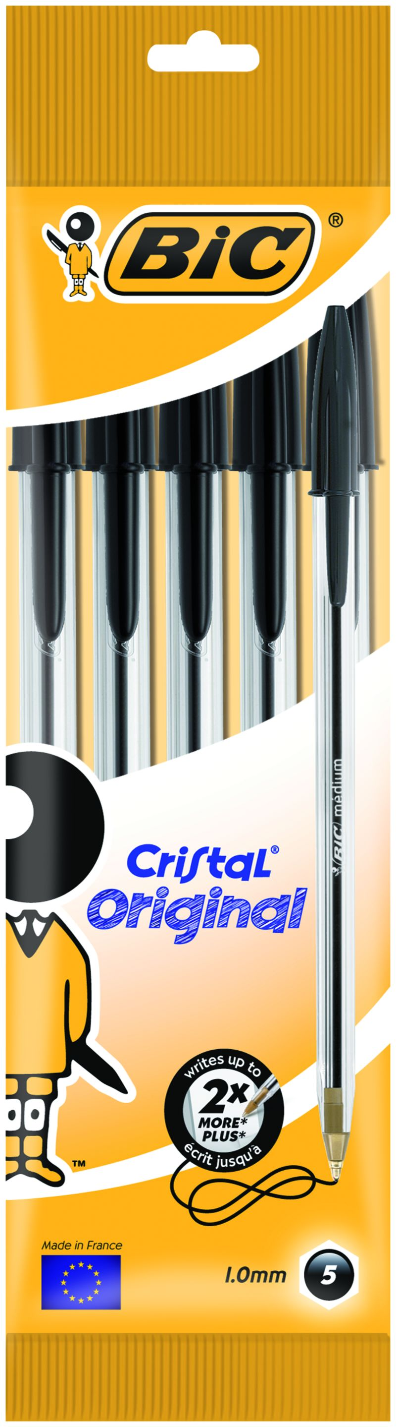 BLISTER CRISTAL MED. POUCH 5 BLACK INT - 802051