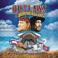 outlaws & armadillos: country roaring '70s (2 cd) - Varios
