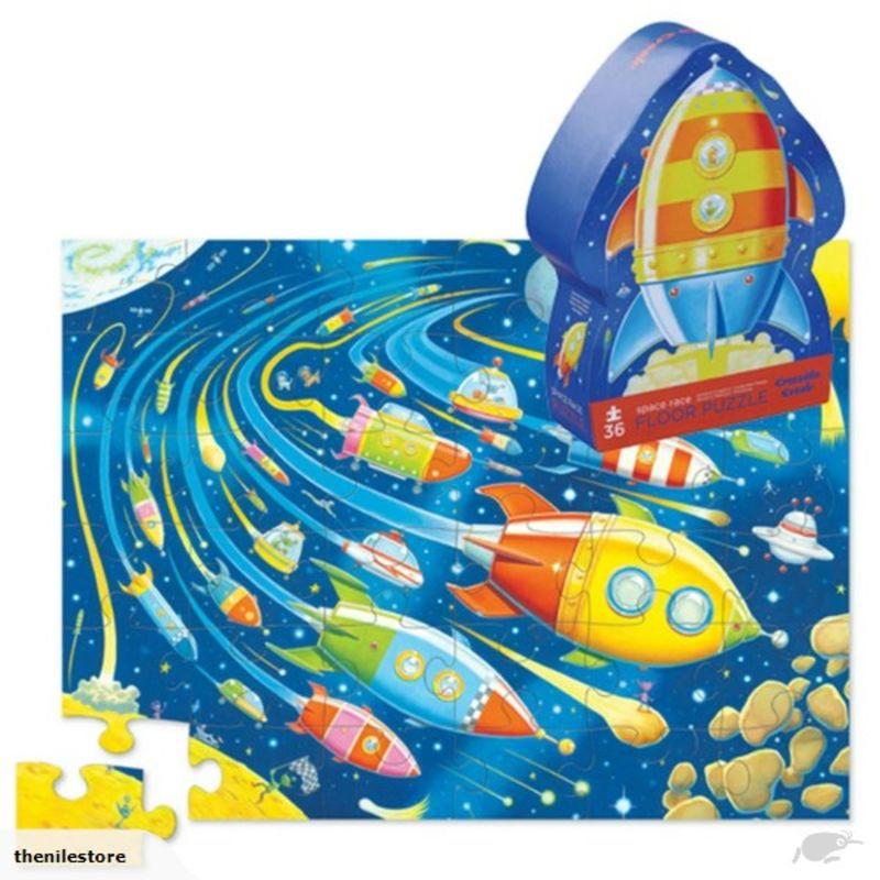 PUZZLE 36PC SHAPED / SPACE RACE R: 3840771