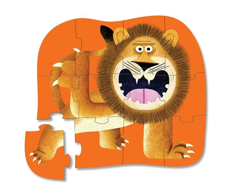 PUZZLE MINI 12pcs LION ROAR