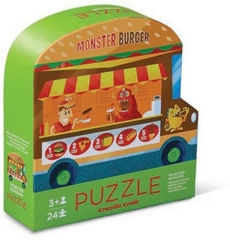 Puzzle Sided Vehicle 24pc 2-Sided Vehicle Food Truck -