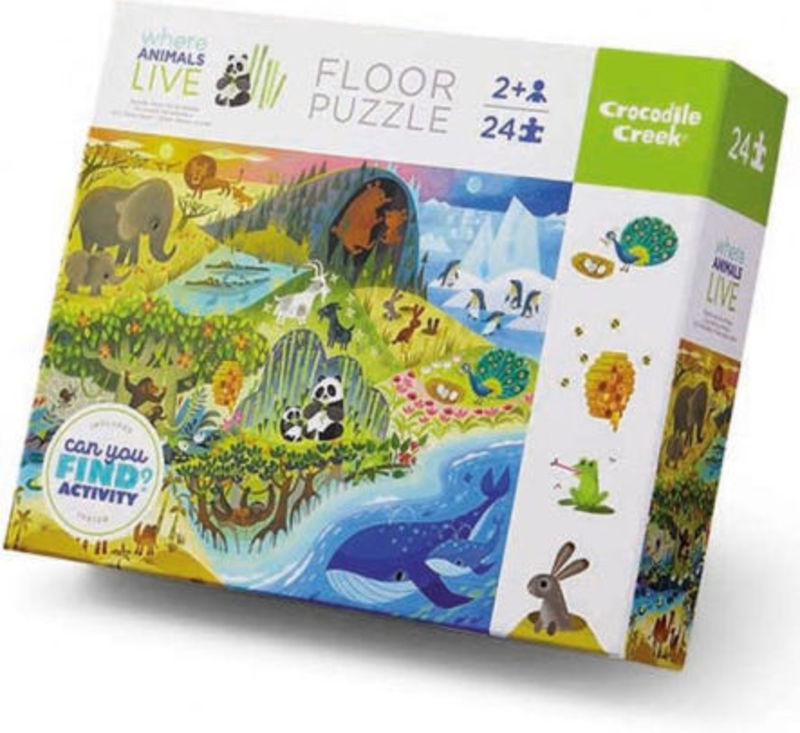 Puzzle 24pc Early Learning / Animals Live R: 3841856 -