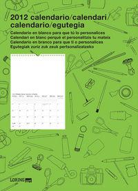2012 CALENDARIO - CLASICO (ESP / CAT / GAL / EUS)