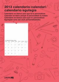 2013 CALENDARIO - CLASICO (ESP / CAT / GAL / EUS)