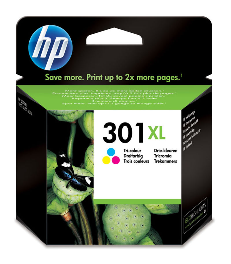 CARTUCHO HP 301XL COLOR R: CH564EE
