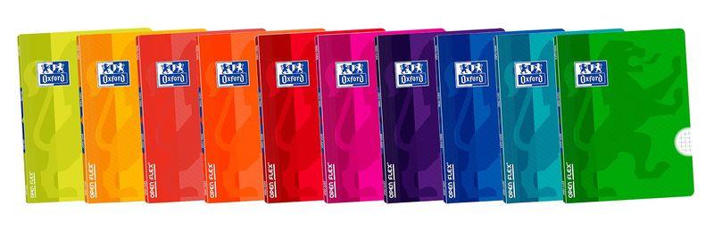 PAQ / 10 LIBRETA OPENFLEX A5 48H PAUTA 3, 5 COLORES