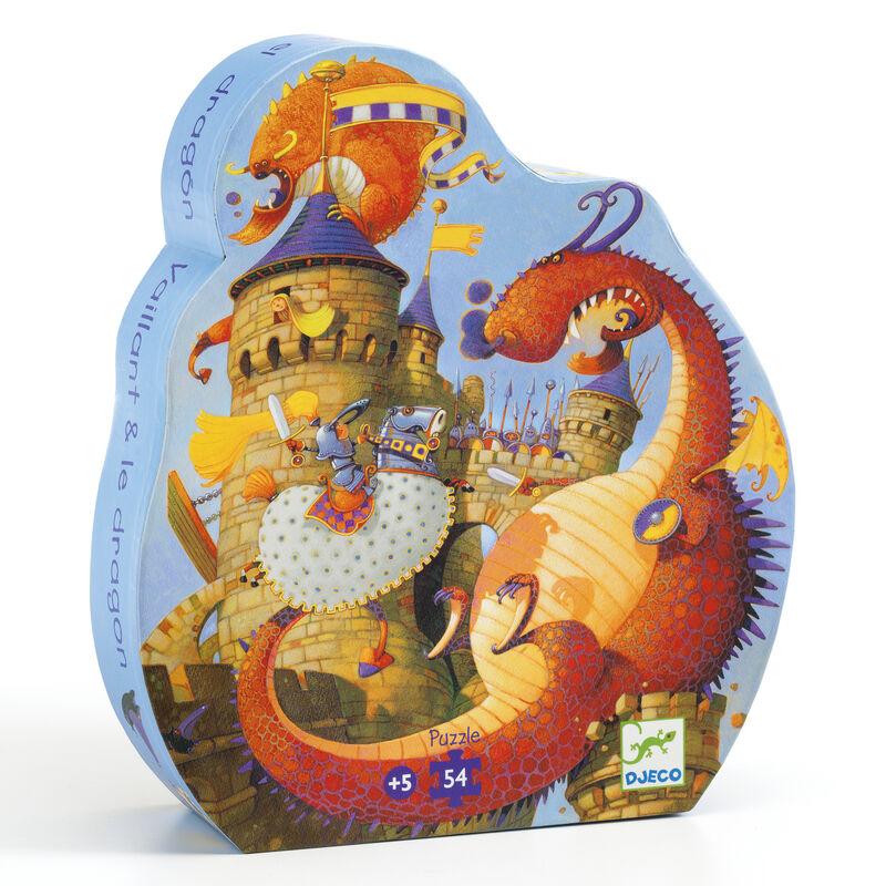 PUZZLE SILUETA VAILLANT Y EL DRAGON R: 37256