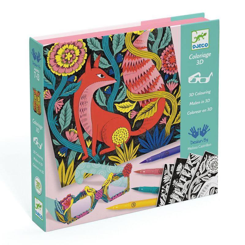 Colorear En 3d Bosque Fantastico -