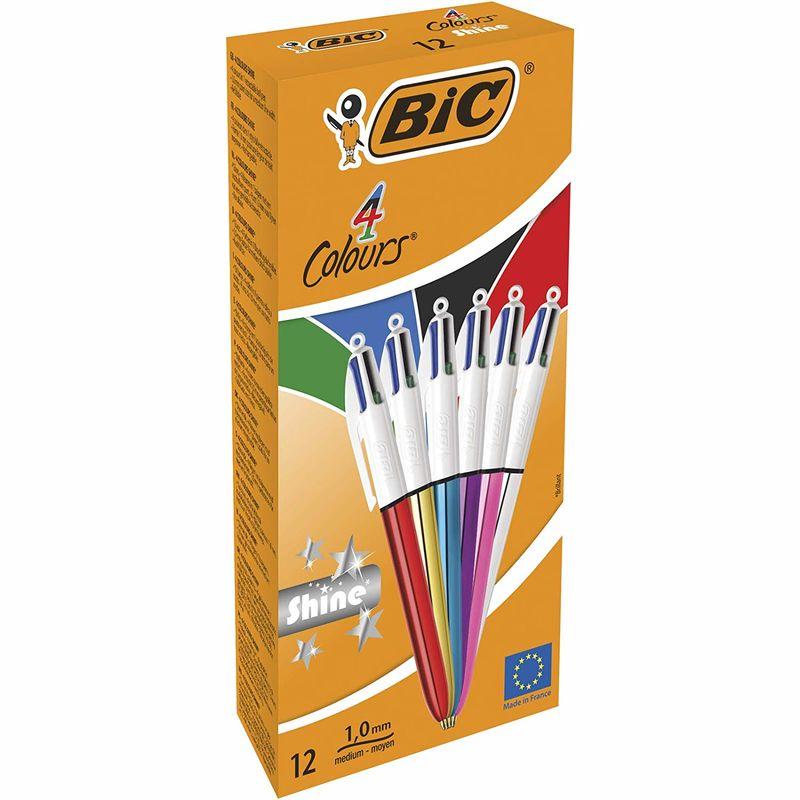 C / 12 Boligrafos 4 Colores Shine Ast R: 964775 -