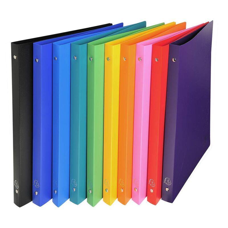 Carpeta 4 Anillas 15mm Polipropileno Opaco A4 10 Colores Surtidos -