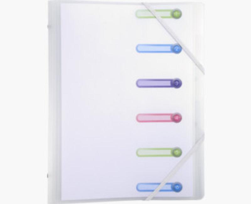 Clasificadora 6 Compartimentos 3 Solapas Chromaline Blanco -