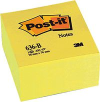 CUBO POST-IT 76X76 AMARILLO 450H R: 5426
