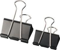 C / 12 Pinzas 19mm Abatibles Negro R: 7036530 -