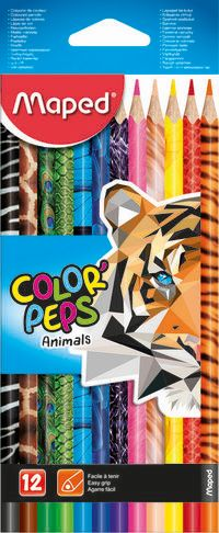 C / 12 LAPICES COLOR PEPS X12 ANIMAL R: 832212