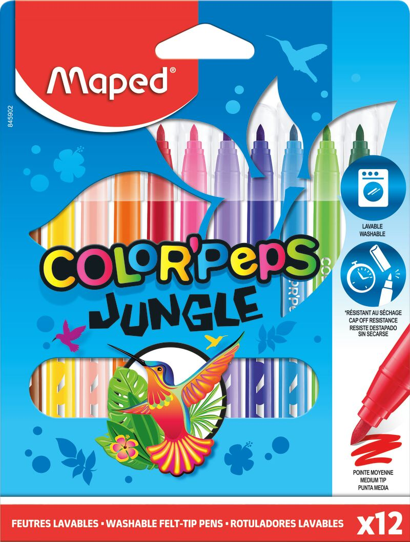 C / 12 ROTULADORES JUNGLE COLORPEPS