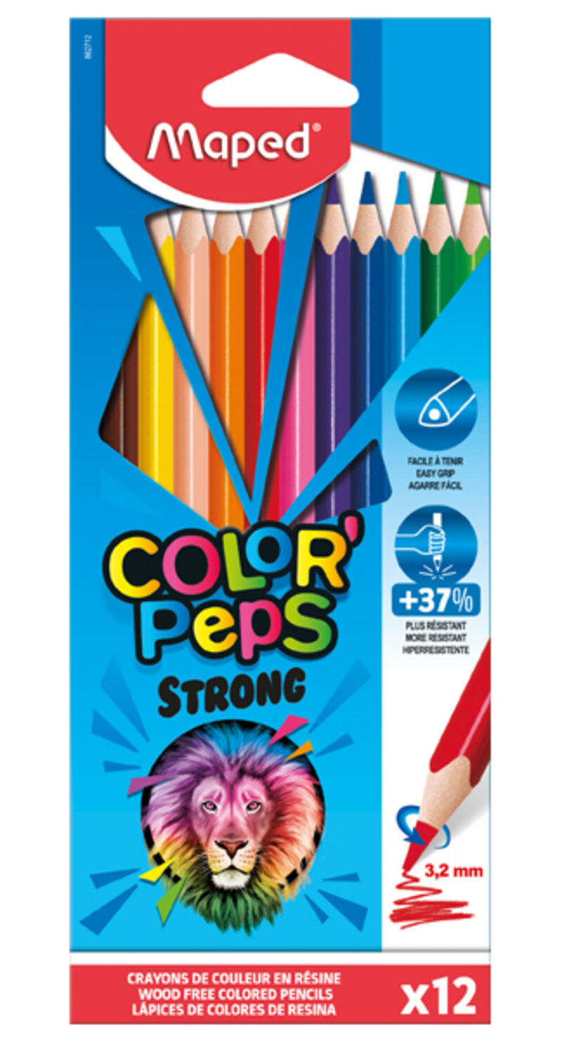 C / 12 LAPICES COLORES STRONG COLORPEPS