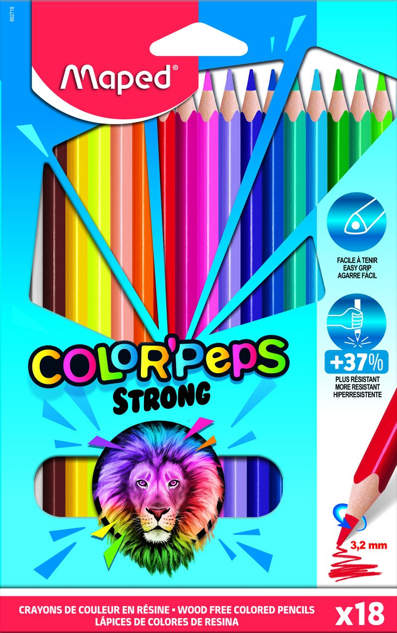 C / 18 LAPICES COLORES STRONG COLORPEPS