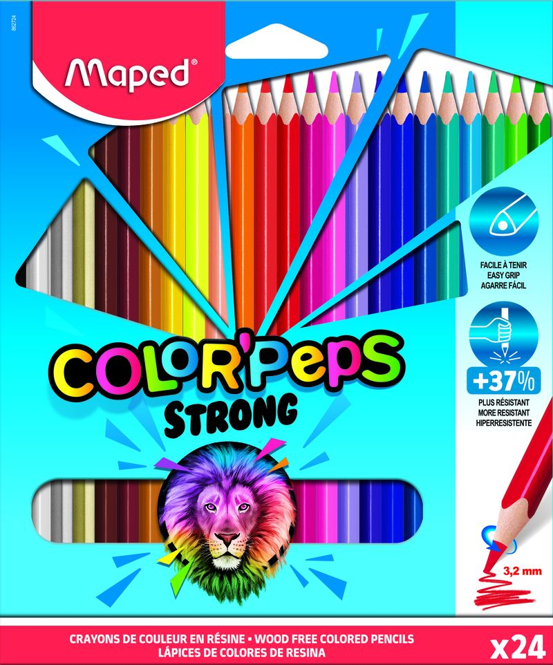 C / 24 LAPICES COLORES STRONG COLORPEPS