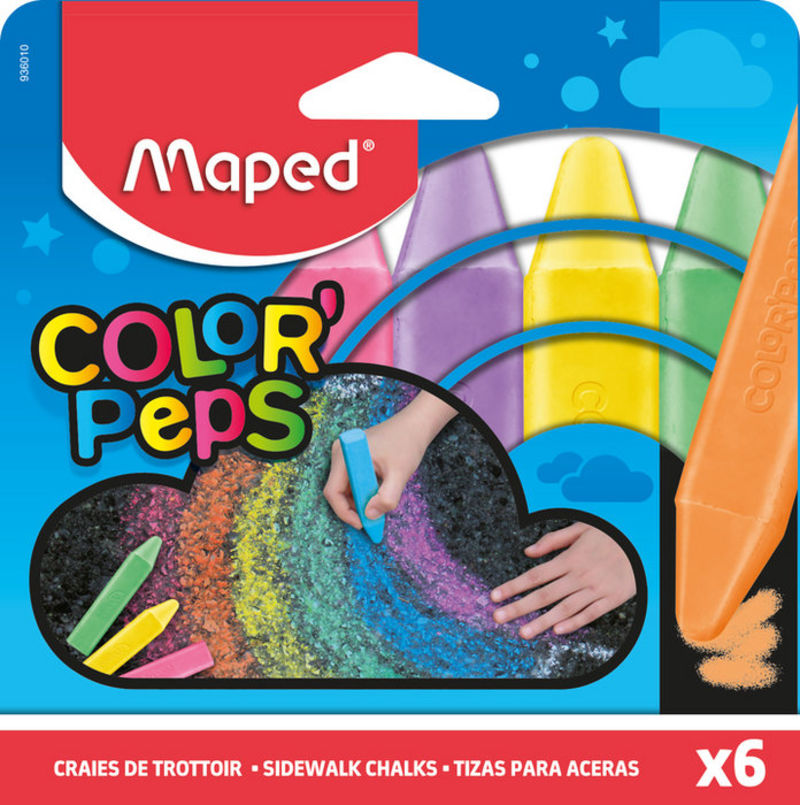C / 6 Tizas Para Aceras Color Peps R: 936010 -