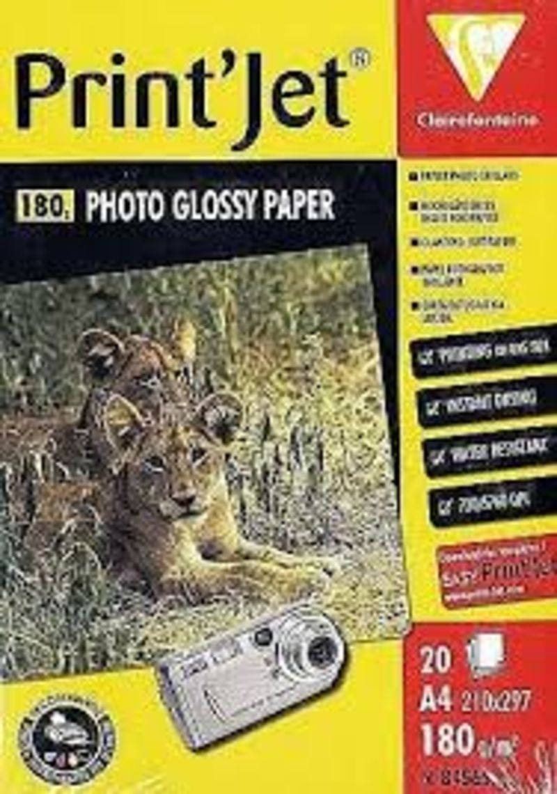 C / 20 PAPEL PHOTO A4 GLOSSY 180G R: 84565C