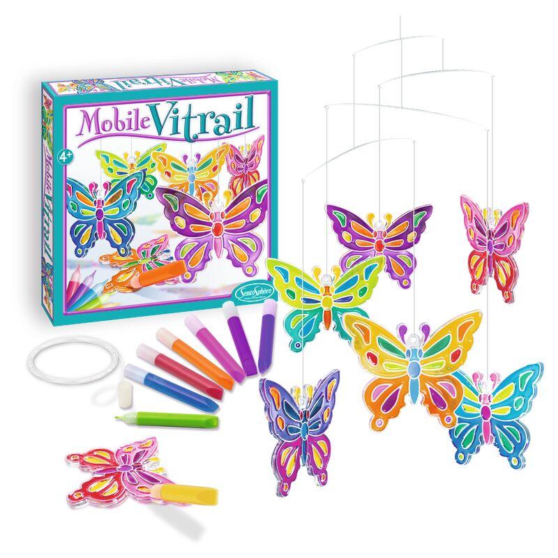 Mobile Vitrail Mariposas -