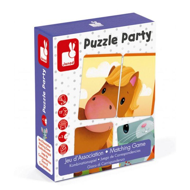 Juego De Correspondencias Puzzle Party -