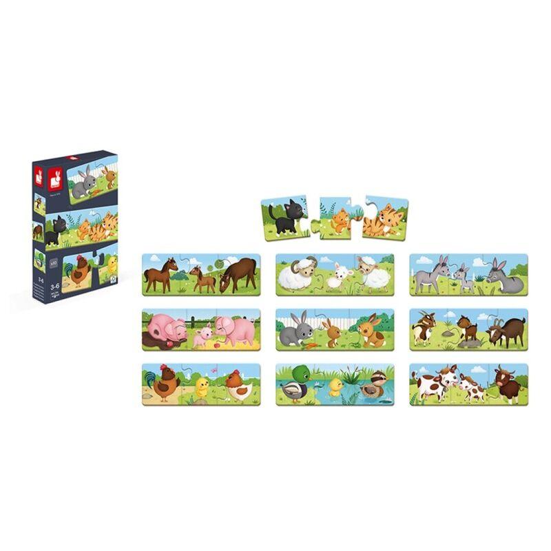 Juego De Correspondencias Puzzle Trionimo -