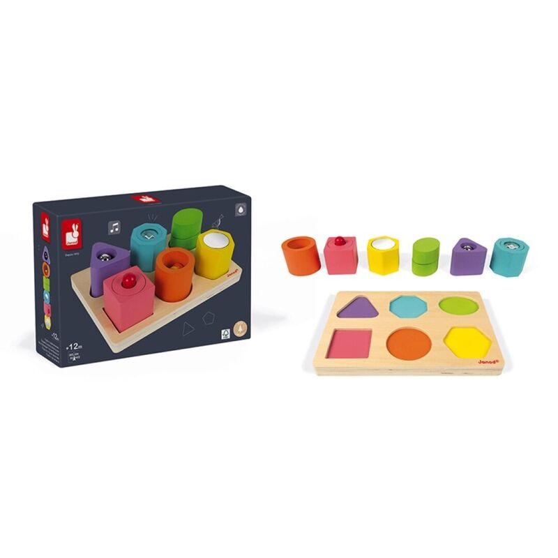 Puzzle 6 Cubos Sensoriales I Wood -