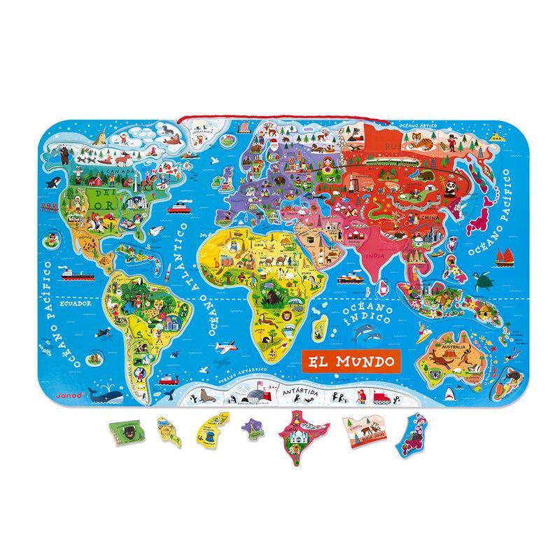 puzzle magnetico de 92 piezas serie atlas version español -