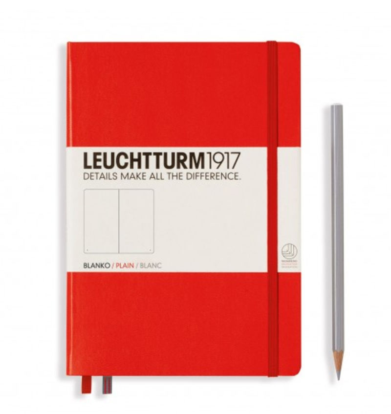 NOTEBOOK MEDIUM A5 TAPA DURA LISA ROJO