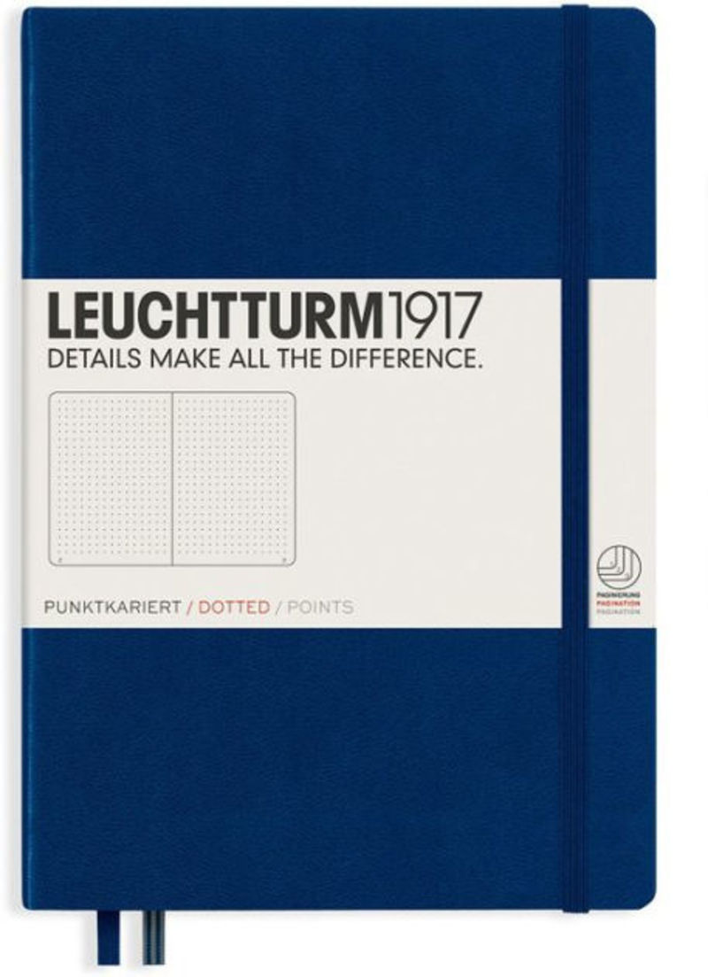 Notebook Medium A5 Tapa Dura Puntos Azul Marino -