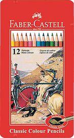 Estuche 12 Lapices Surt. Metal Rojo R: 115844 -