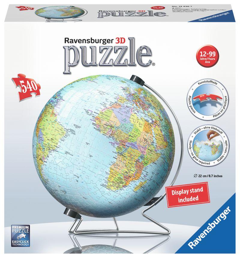 PUZZLE 3D * GLOBO DEL MUNDO 540 PIEZAS
