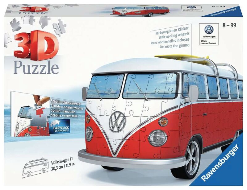 PUZZLE 3D FURGONETA VOLKSWAGEN R: 12516