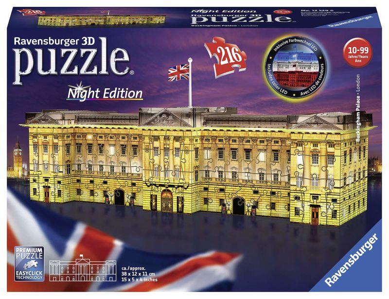 3D PUZZLE BUCKINGHAM PALACE NIGHT EDITION R: 12529
