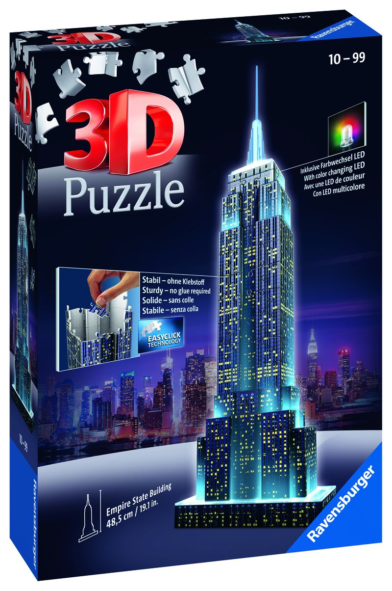 3D PUZZLE EMPIRE STATE BUILDING NIGHT EDITION R: 12566