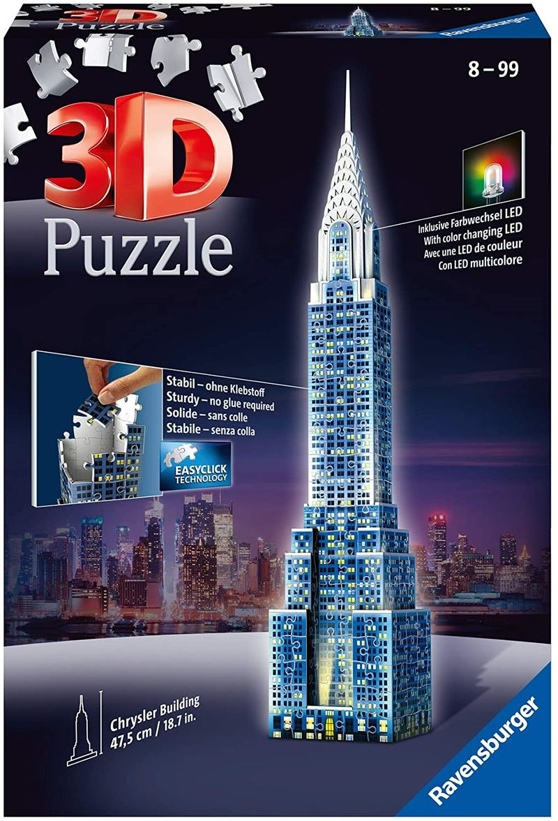 3D PUZZLE CHRYSLER BUILDING NIGHT EDITION R: 12595