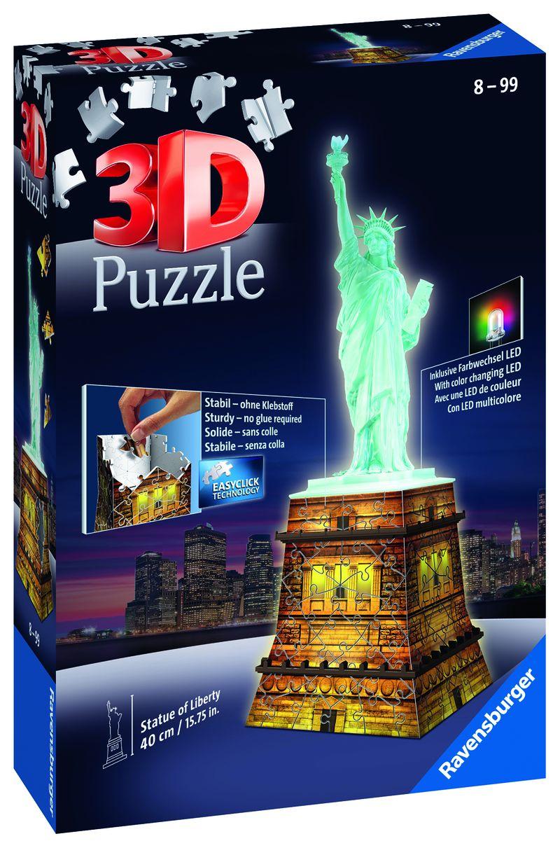 PUZZLE 3D * ESTATUA DE LA LIBERTAD- NIGHT EDITION