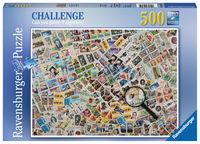 PUZZLE 500 * FRANCOBOLLI R: 14805