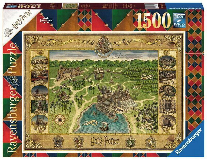 PUZZLE 1500 * MAPA DE HOGWARTS
