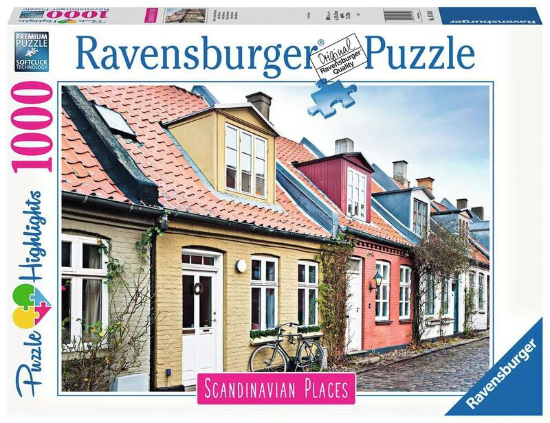 puzzle 1000 * aarhus, dinamarca -