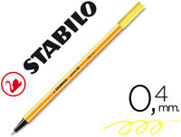 C / 10 STABILO POINT 88 FLUO AMARILLO R: 88024