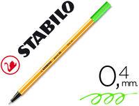 C / 10 STABILO POINT 88 FLUO VERDE R: 88033